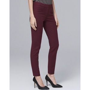 NWT WHBM Burgundy Slim Ankle Pants